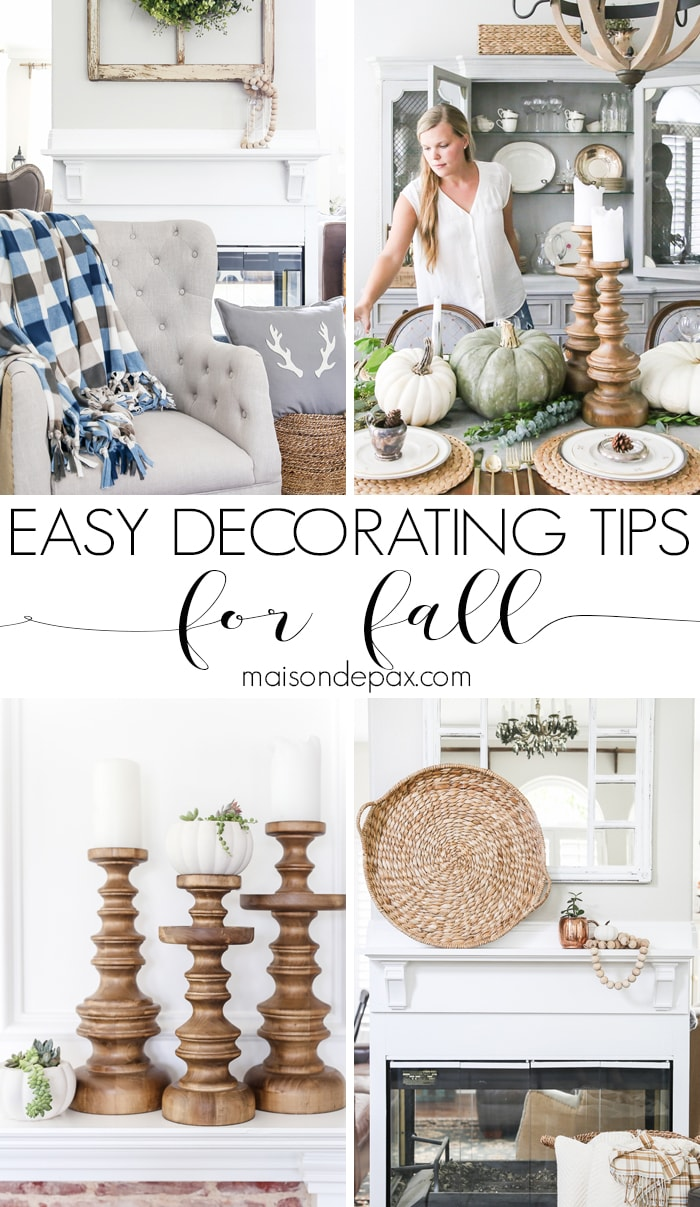 Simple Fall Decorating Tips and Ideas - Maison de Pax