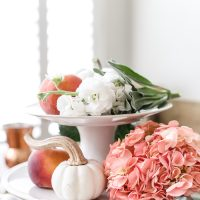 Fall Tablescape: Pumpkins and Peaches