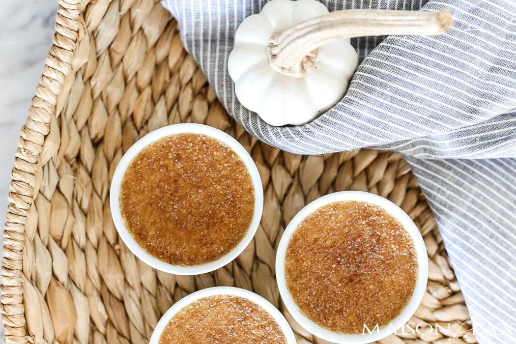 pumpkin creme brulee recipe: individual ramekins