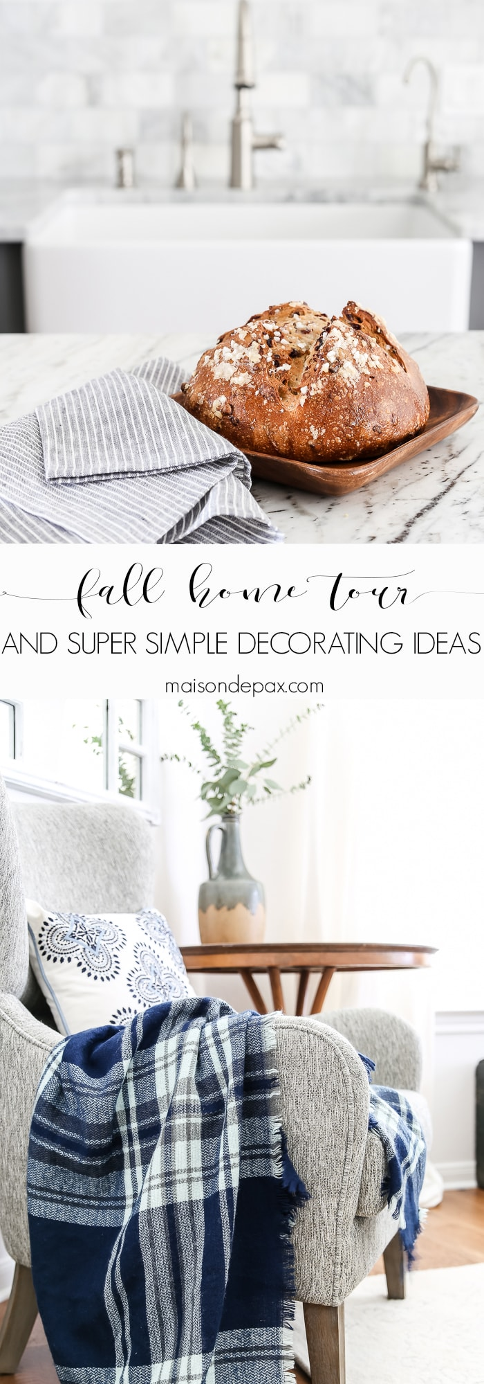 Add fall decor touches to your home in 15 minutes or less- Maison de Pax