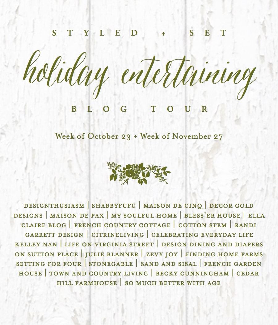 holiday entertaining tour- Maison de Pax