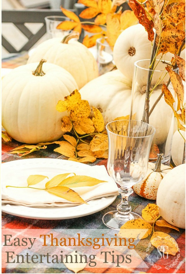 easy white pumpkin centerpiece