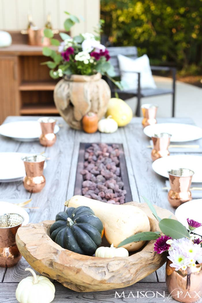 various gourds make an easy, beautiful Thanksgiving centerpiece