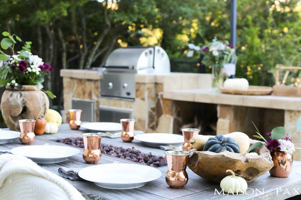 gorgeous outdoor fall dining table