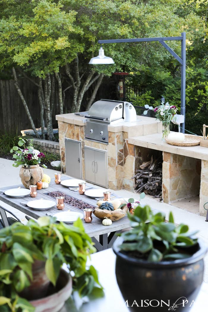 gorgeous outdoor fall dining set up