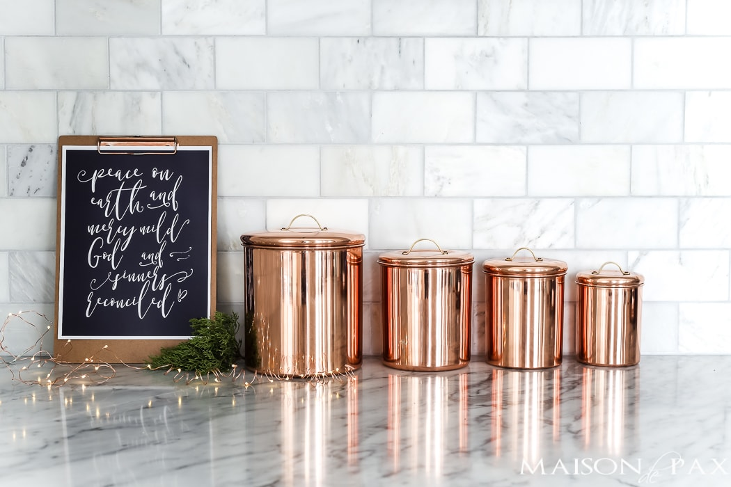 gorgeous copper canisters #giftguide