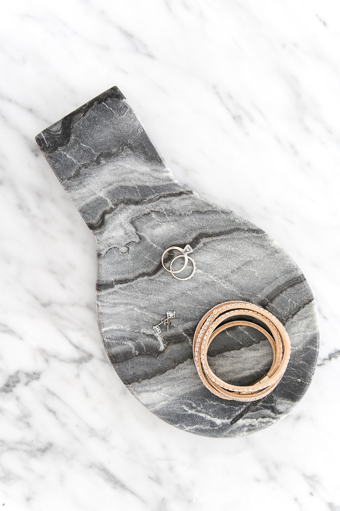 marble spoon rest as accessory holder - gift ideas for her #giftsforher