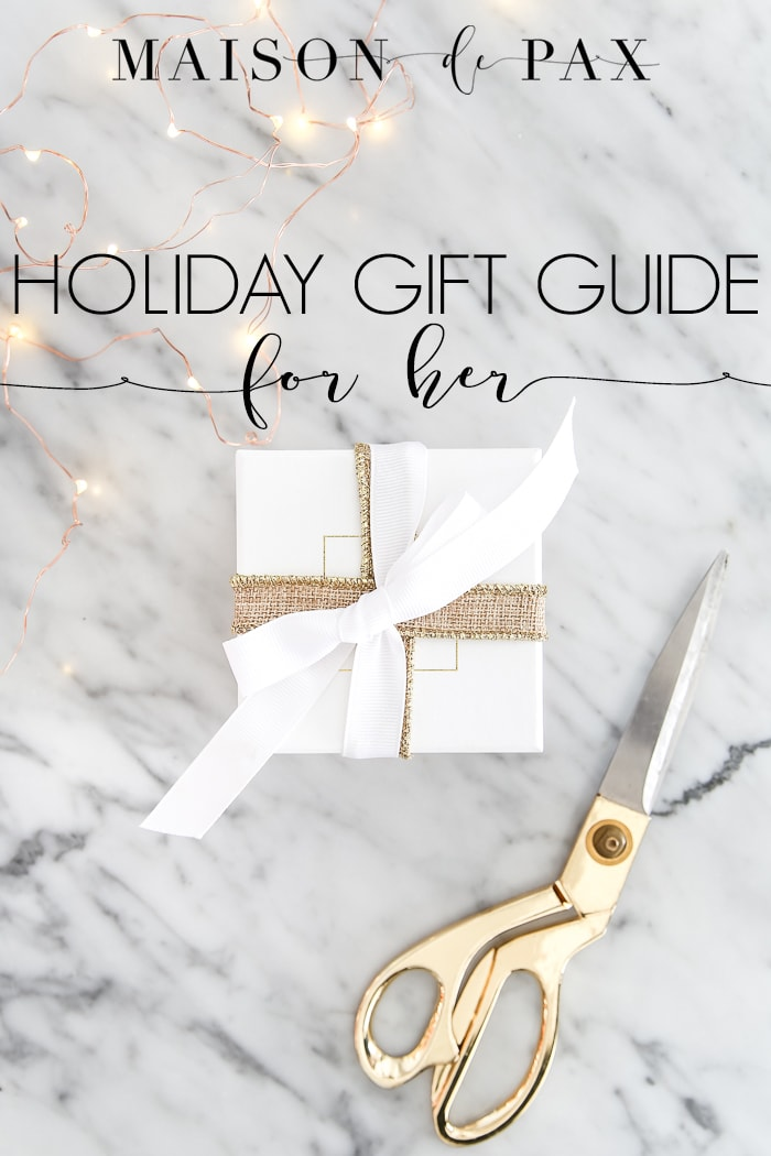 Looking for the perfect gift for her? These gift ideas for your wife, mom, sister, or friend #giftsforher