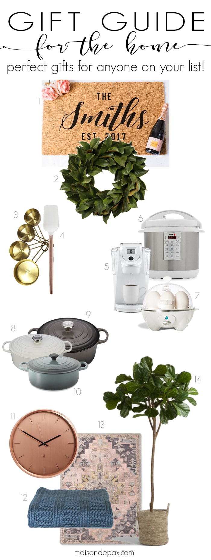 Gift ideas for the Home: from kitchen gadgets to home decor, home gift ideas can be perfect for everyone on your list! #giftguide