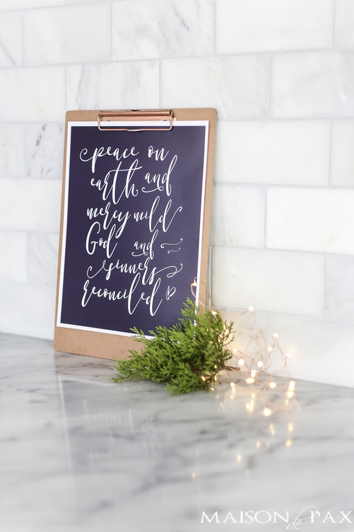 free Christmas printable sign
