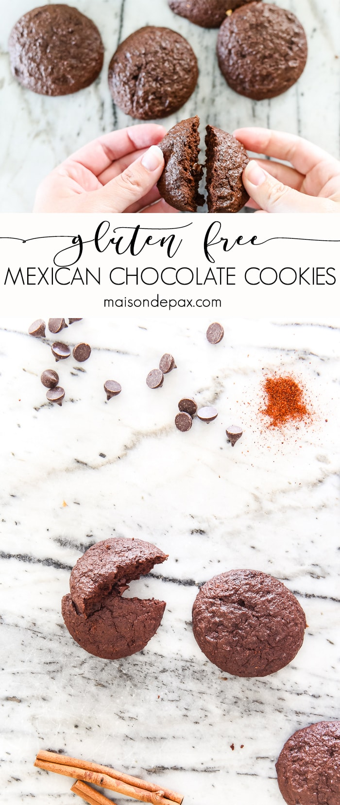 mexican chocolate cookies: dark chocolate... gluten free and low sugar #chocolatecookies