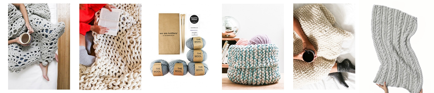 great gift ideas! knitting kits with high quality, gorgeous wool and full instructions #giftideas