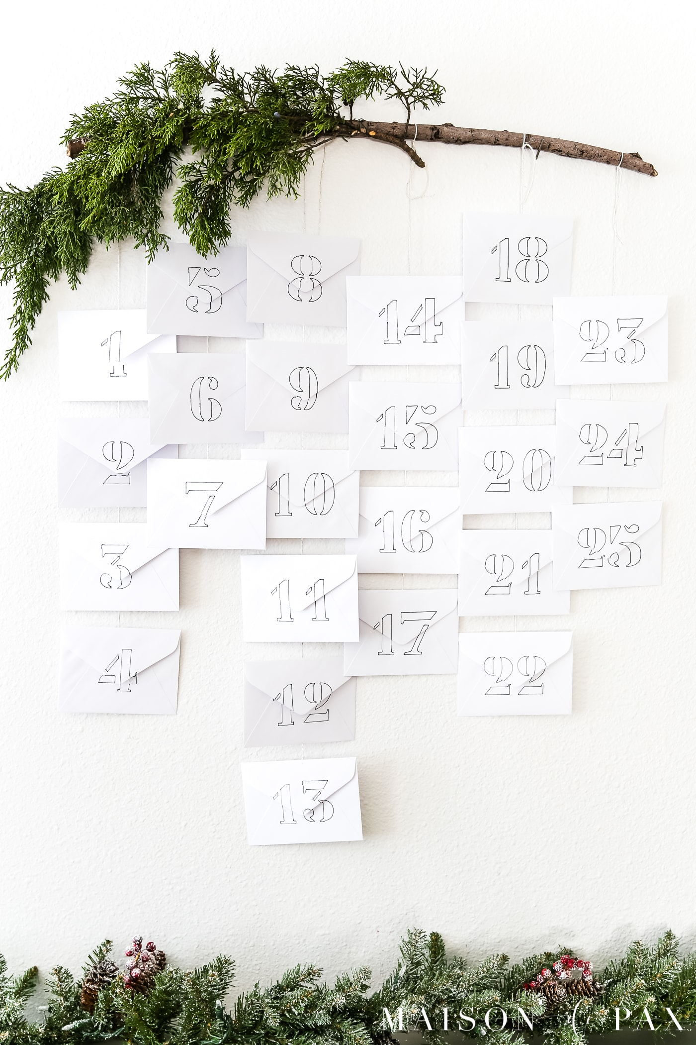 love this simple diy advent calendar idea! #adventcalendar