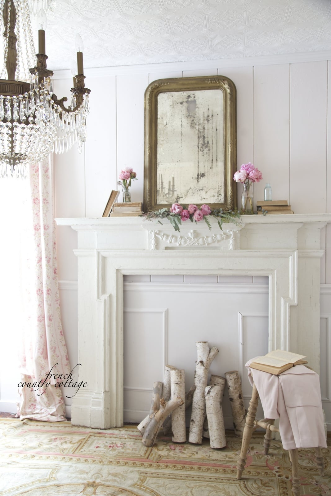 French Country Fireplace Mantel- Maison de Pax