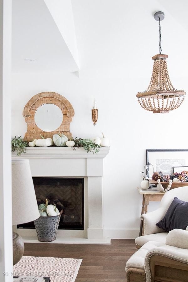 Limestone fireplace- Maison de Pax