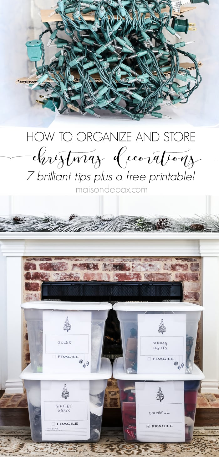 Looking for the best way to store your Christmas decorations?  These Christmas organization ideas will show you how to organize and store Christmas decorations simply and efficiently. #christmasorganization #christmasstorage #organizing #organizingornaments #organization