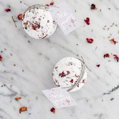 DIY Lavender Rose Bath Bombs