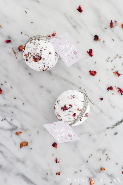 DIY Lavender Rose Bath Bombs
