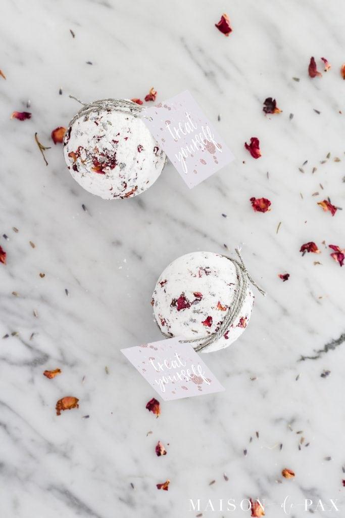 lavender rose bath bomb- Maison de Pax