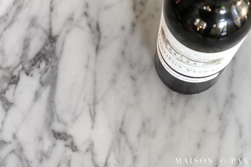 scratches on marble countertops: Should I use marble in the kitchen? - Maison de Pax