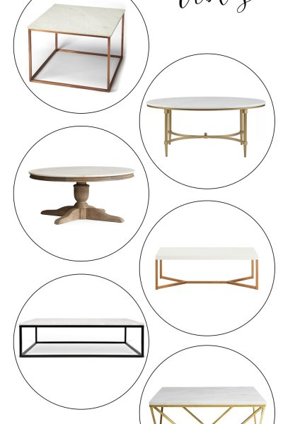 Marble Top Coffee Tables