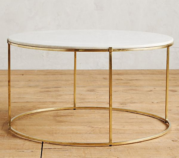 The Geometric Base And Pedestal Make An Especially Modern Marble Coffee Table I Think
