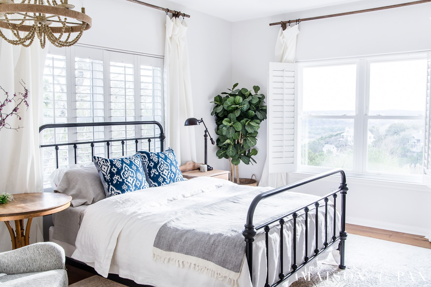 Charming Mostly White Master Bedroom   So Bright And Open. Looking To Add A Seasonal  Touch