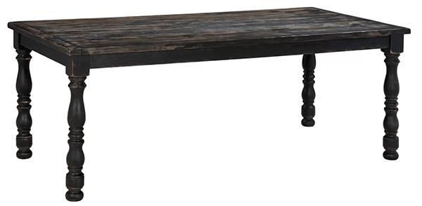 Vintage dark brown dining table- Maison de Pax