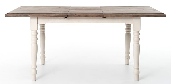 white painted wood top dining room table- Maison de Pax
