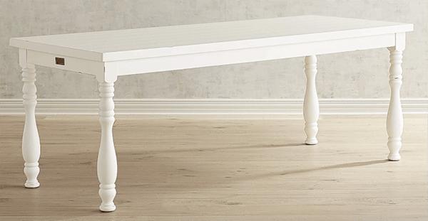 White Farmhouse Dining Table - Maison de Pax