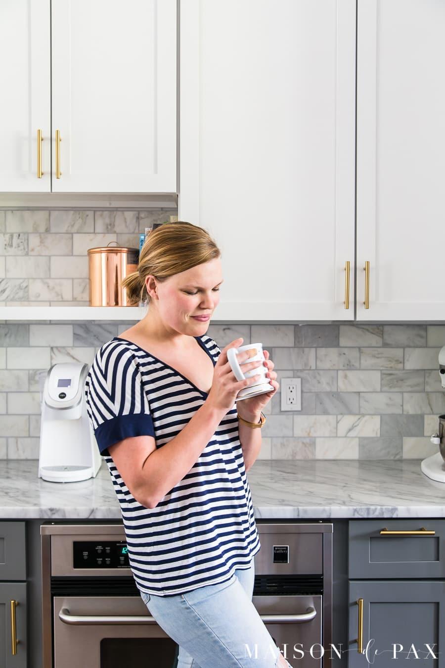 kitchen organizing ideas: create stations... get 5 more tips for kitchen organizing! #kitchenorganization #organizing #kitchendesign