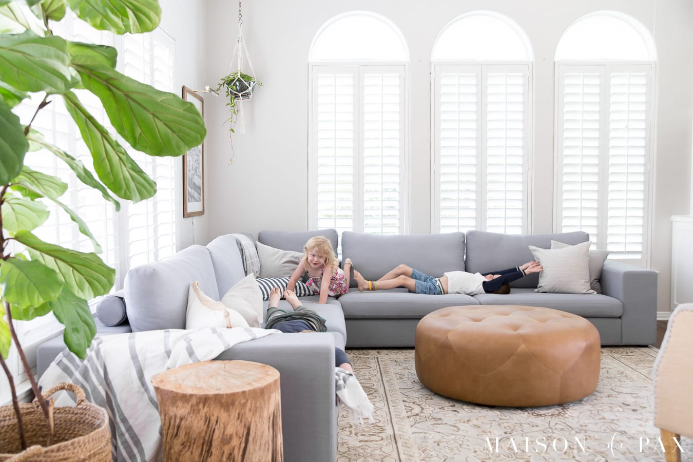 Looking For A Fabric Sectional Good For A Family With Young Kids? Tour This  Gorgeous