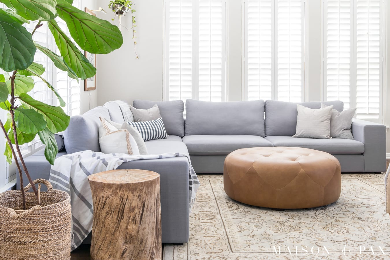 5 Tips For Creating A Light, Bright Living Space #livingroomdecor  #sectionalsofa #neutraldecor