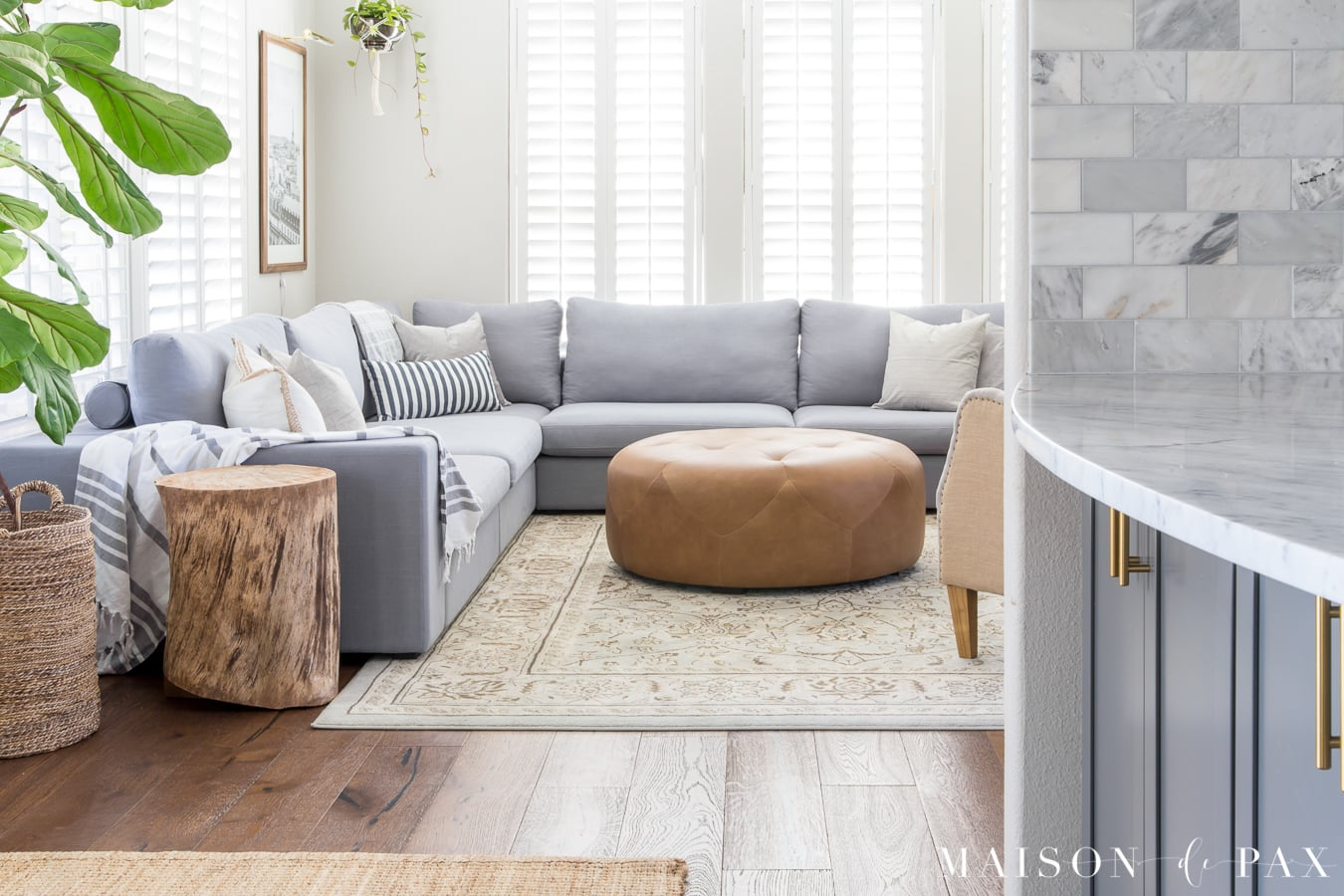 Looking For A Medium Gray Sectional? Tour This Gorgeous Rustic Modern Living  Room And Find