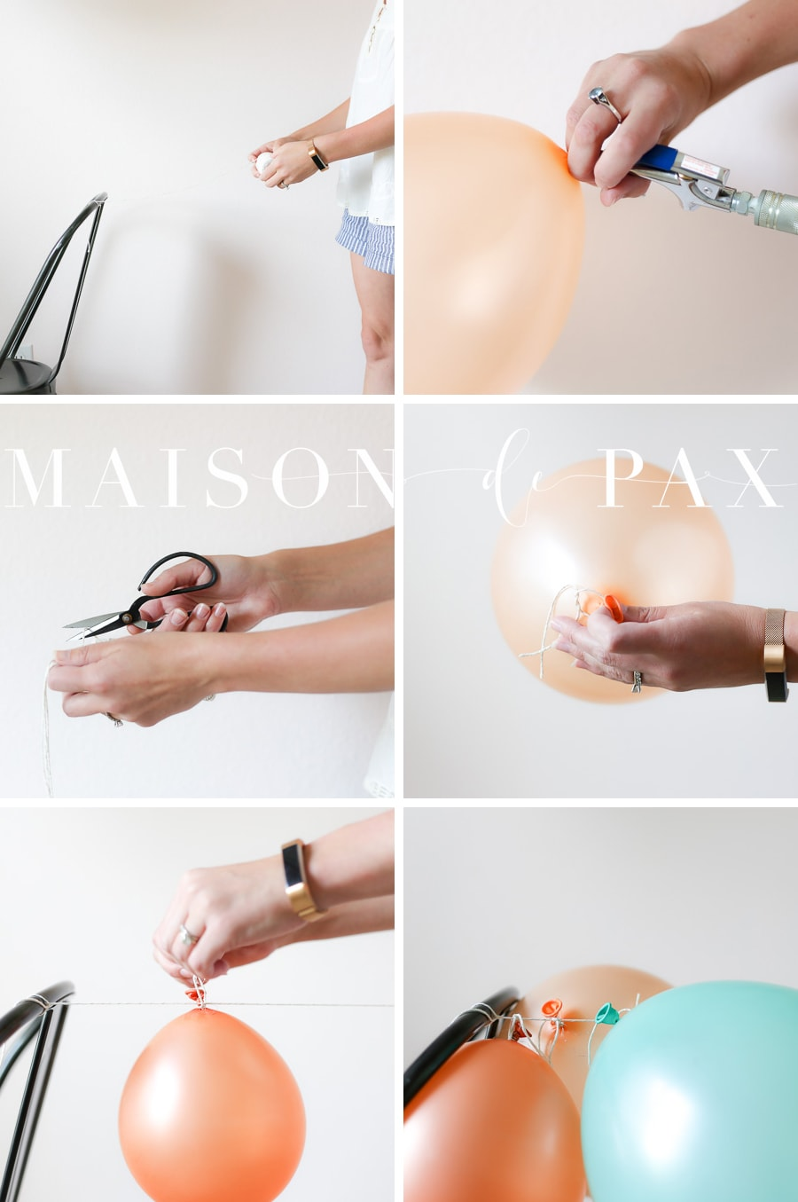 How to fill balloons- Maison de Pax