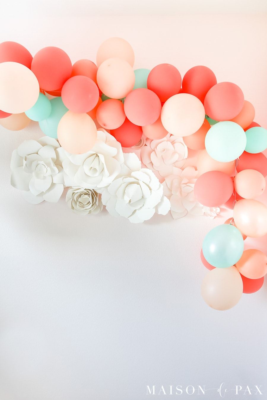 Balloon Garland Photo Backdrop- Maison de Pax