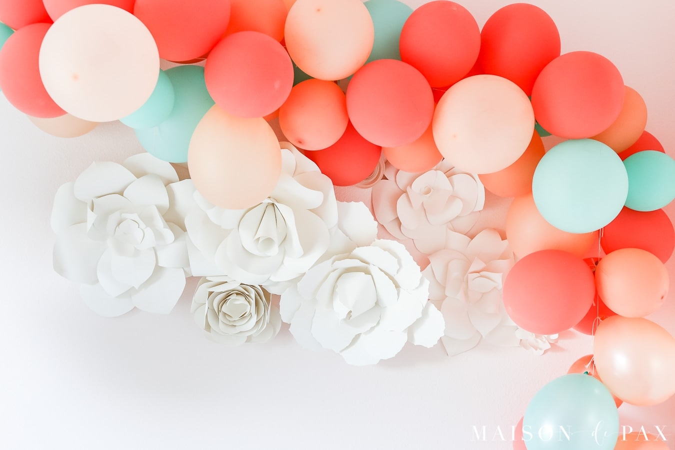 DIY bold and bright balloon garland - Maison de Pax