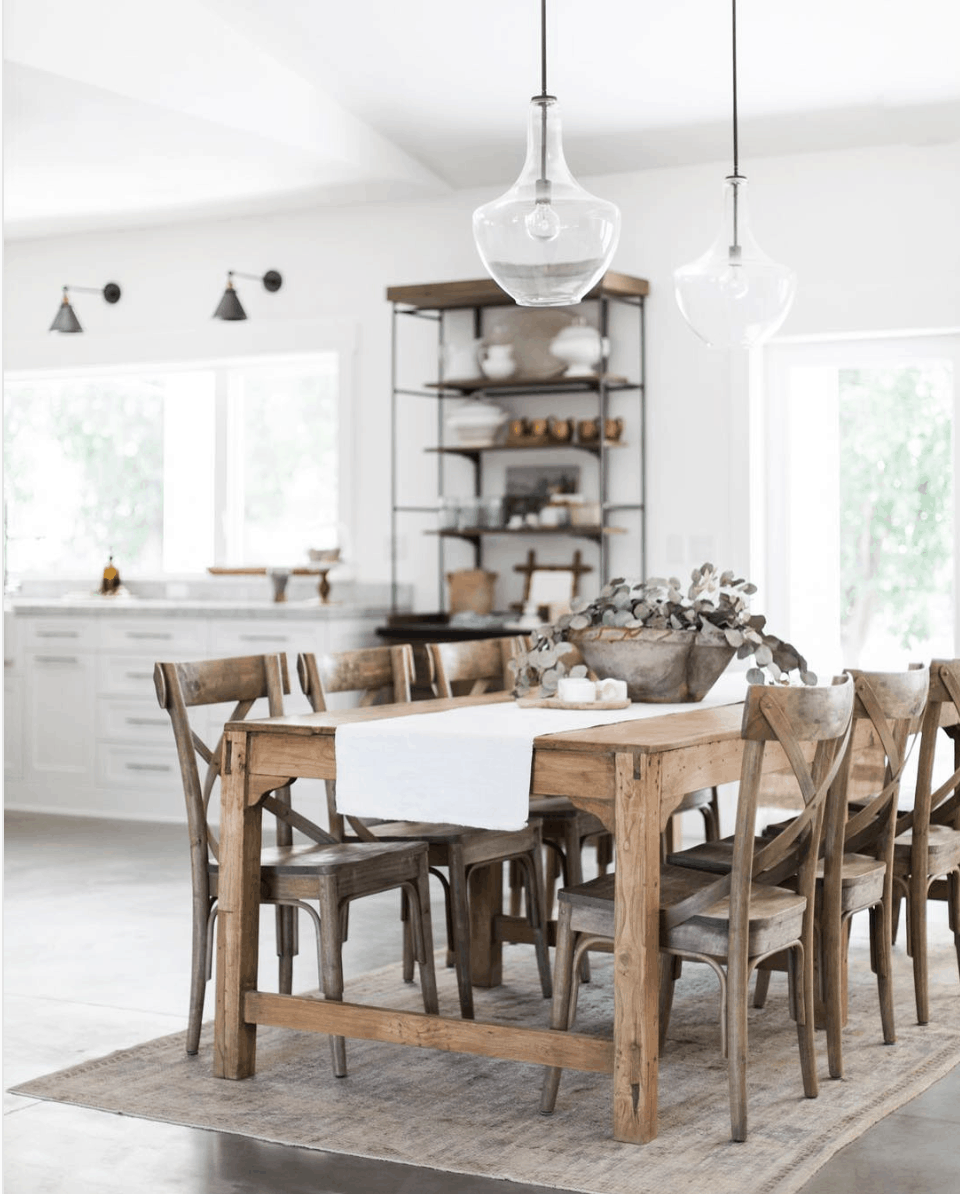 Heather Bullard dining: gorgeous rustic table that invites gathering round- Maison de Pax