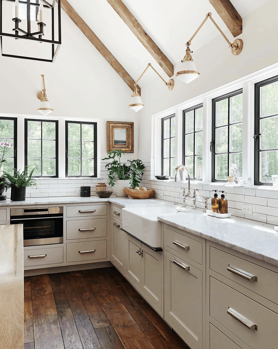 Rbwkd50 Rustic Black White Kitchen Design Wtsenates