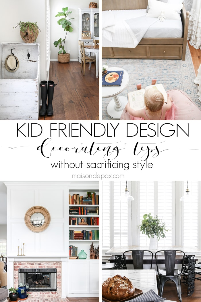 Kid-friendly decorating ideas: find out how to make your home family friendly without sacrificing style! #kiddecor #decoratingforkids #familyfriendly #kidfriendlydecorating #decoratingideas #kidfriendlydesign