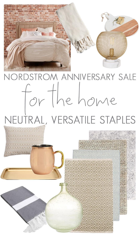 Nordstrom Anniversary Sale Home Decor Neutral Versatile Picks