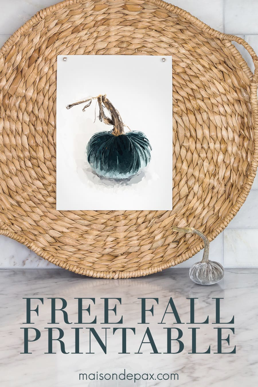 Get this free printable velvet pumpkin painting + 30 other free fall printables! #fallprintable #fallart #pumpkin #velvetpumpkin #pumpkinprintable #pumpkinart #wallart #falldecor #falldecorating #freeprintable