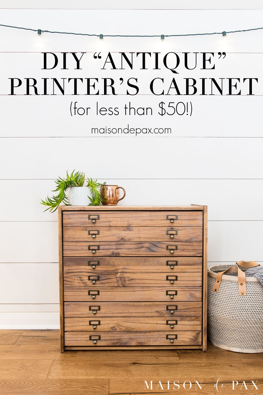 tutorial for diy printer's cabinet from an ikea rast dresser