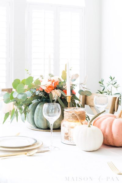 Pumpkin Floral Thanksgiving Table