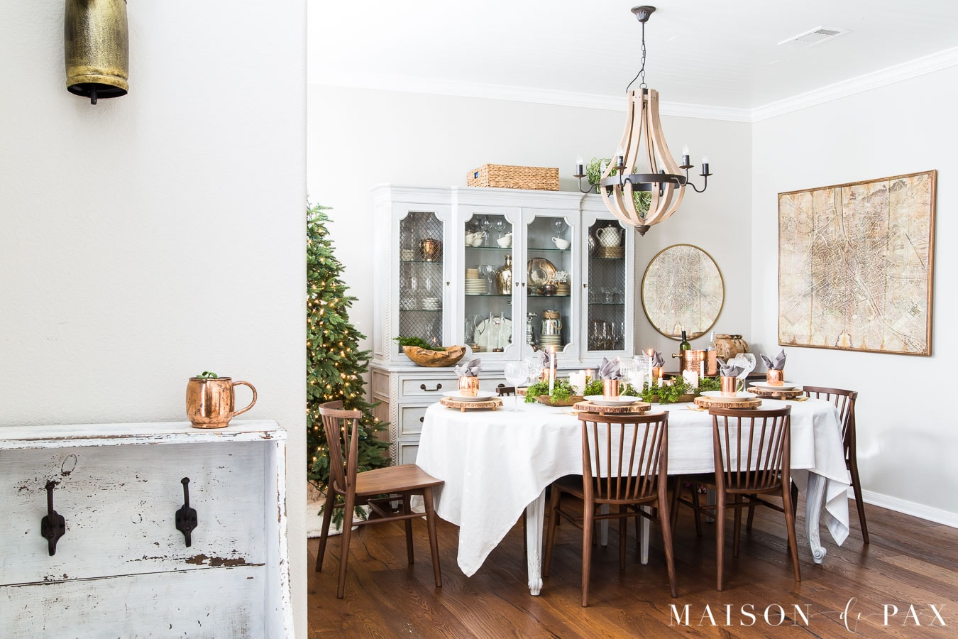simple french country dining room with modern farmhouse elements