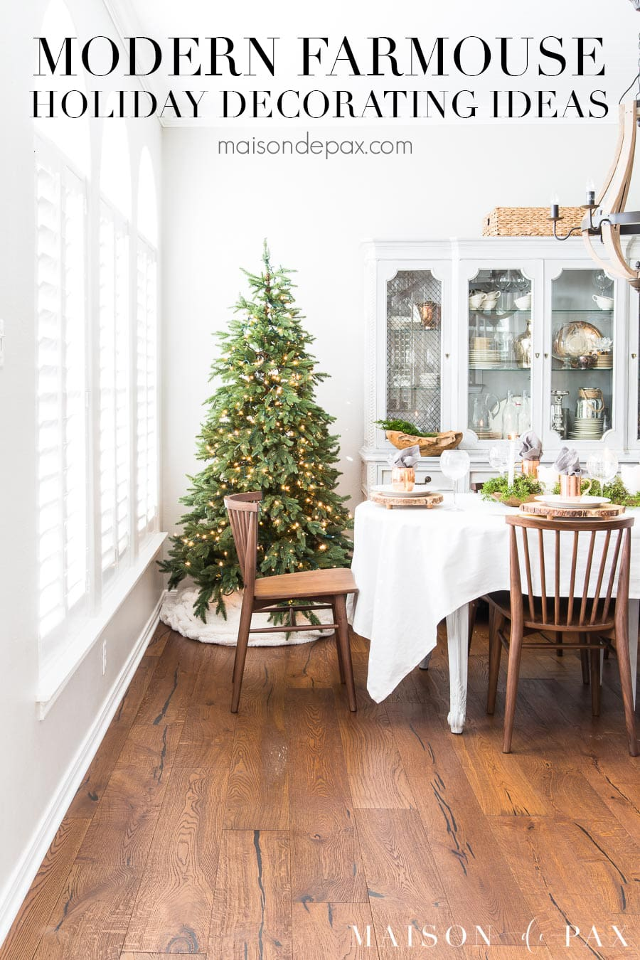 Modern Farmhouse Christmas Dining Room Maison De Pax
