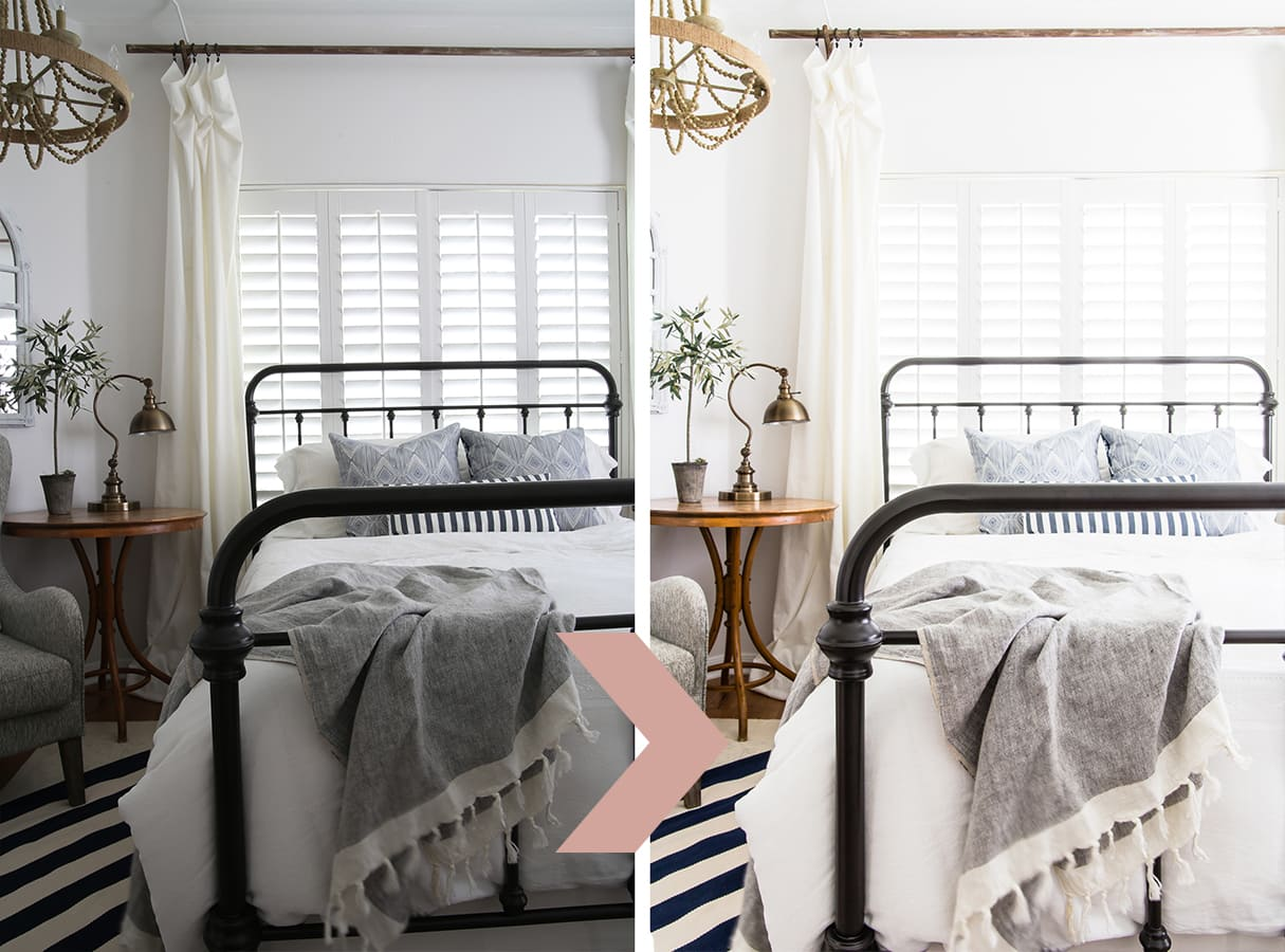 before and after images of a style modern farmhouse bedroom