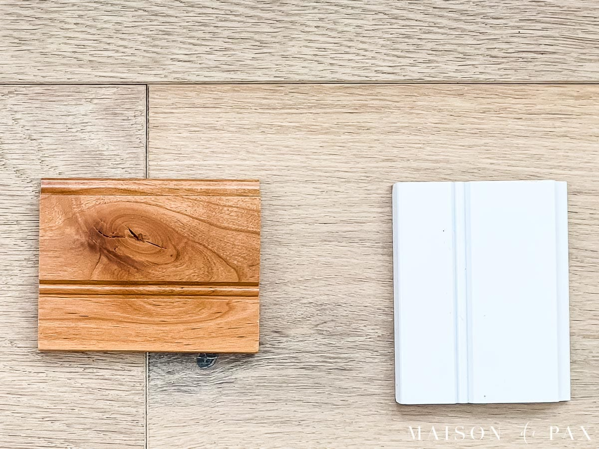 white and rustic alder natural cabinet samples from KraftMaid