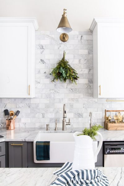 Christmas Kitchen Decor: Natural, Fresh, Simple