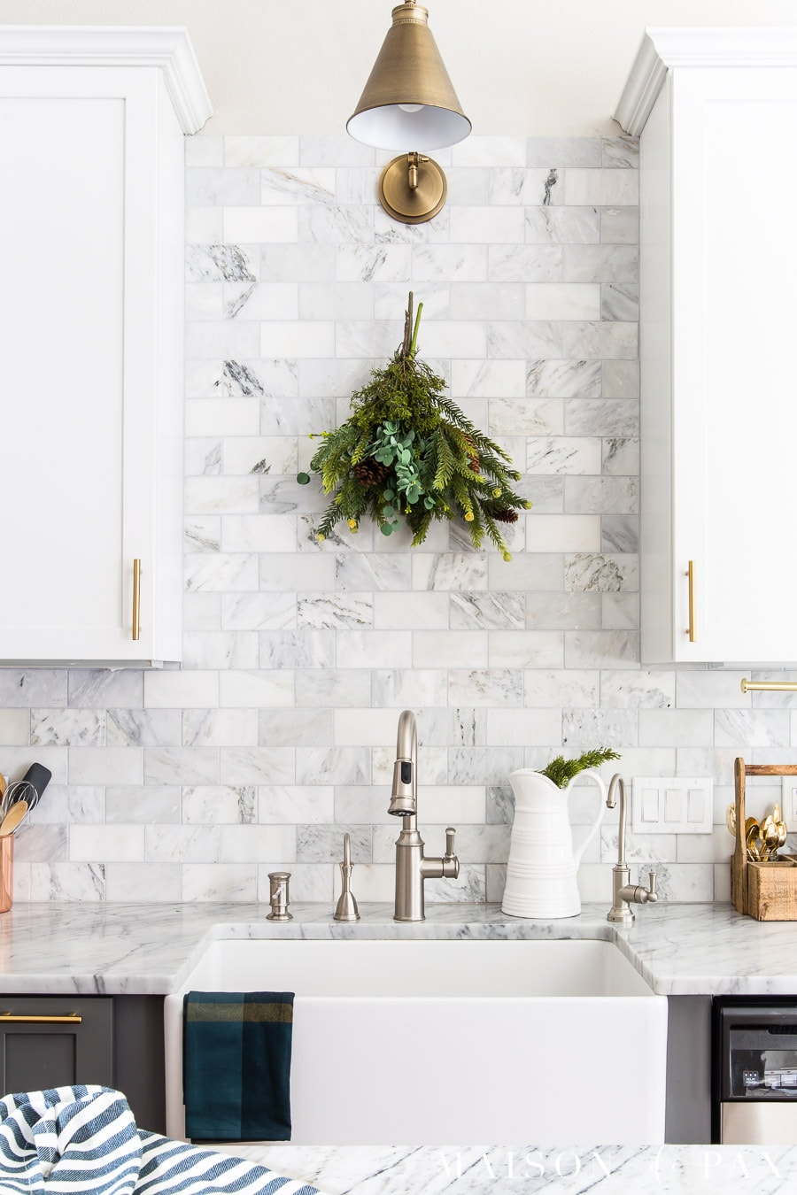 Christmas Kitchen Decor: Natural, Fresh, Simple - Maison de Pax on remodeling ideas for kitchen, christmas decorations above kitchen cabinets, christmas decor for kitchen, design ideas for kitchen, organizing ideas for kitchen, christmas centerpieces for kitchen, christmas kitchen decor idea, color ideas for kitchen, home ideas for kitchen, christmas crafts for kitchen, christmas lights for kitchen, diy for kitchen, storage ideas for kitchen, paint ideas for kitchen, italy ideas for kitchen, lighting ideas for kitchen, sewing ideas for kitchen, painting ideas for kitchen, vintage ideas for kitchen, christmas rugs for kitchen,